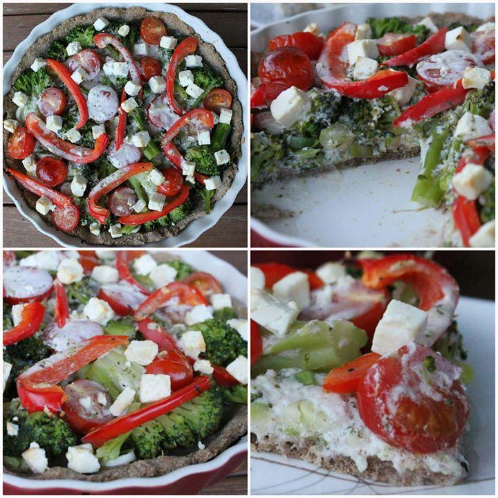 Dietetyczna tarta brokułow-warzywna