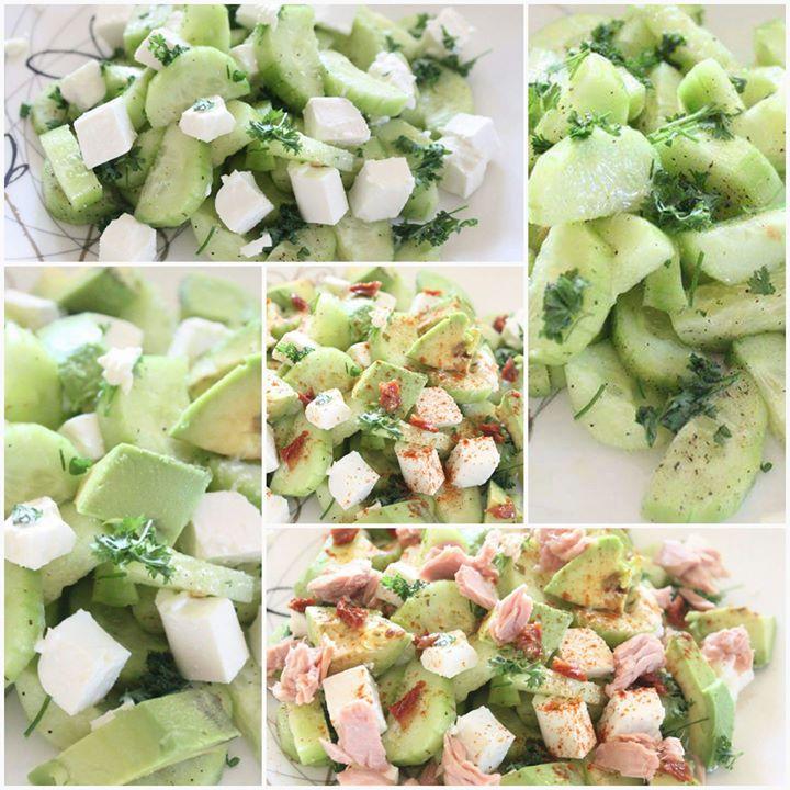 Przemiana sałatki z ogórkowej