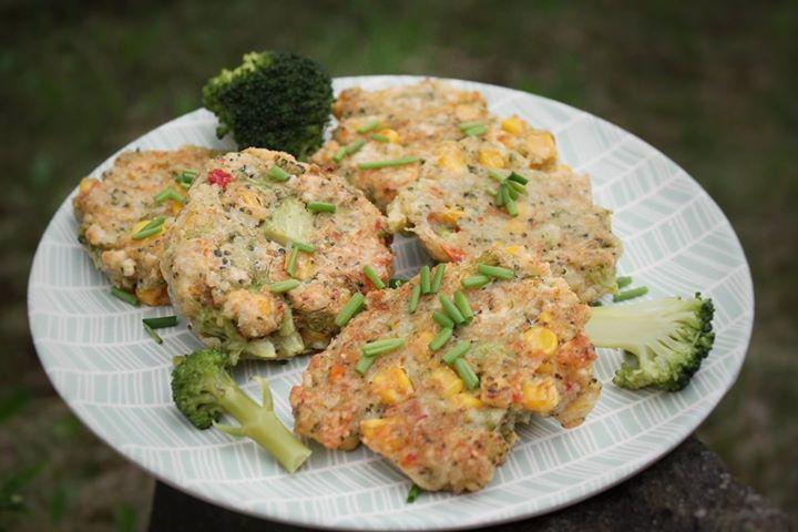Placki kukurydziano-brokułowe do lunch-box lub na piknik