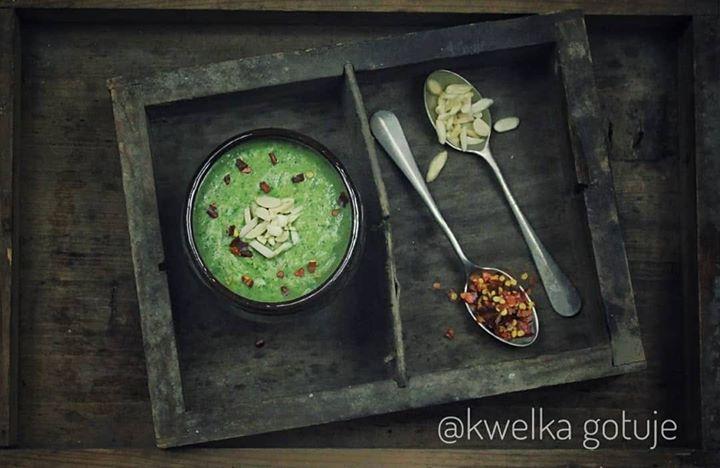Krem z brokuła na mleku kokosowym