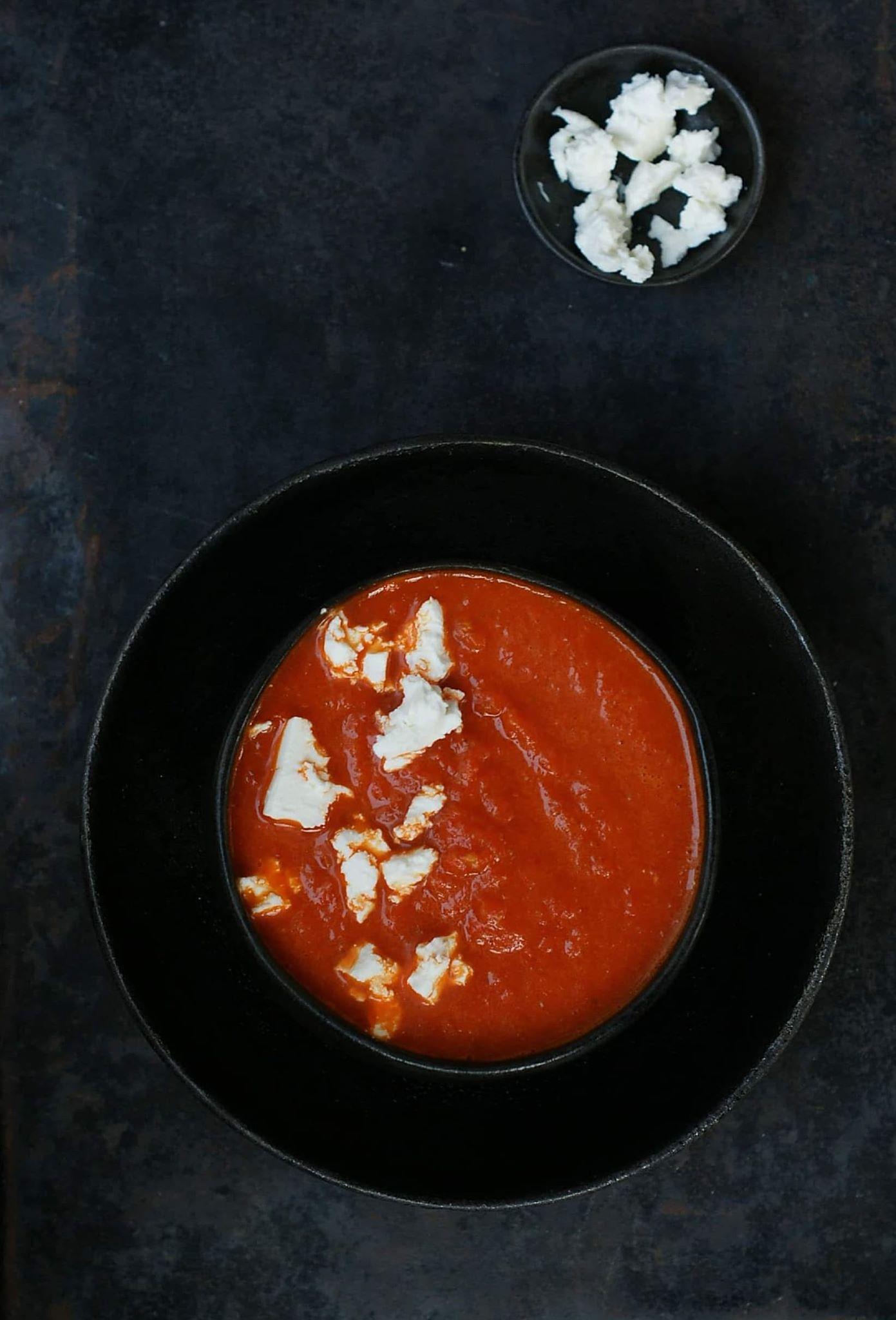 Zupa paprykowa z fetą