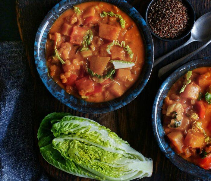 Dyniowe curry z soczewicą