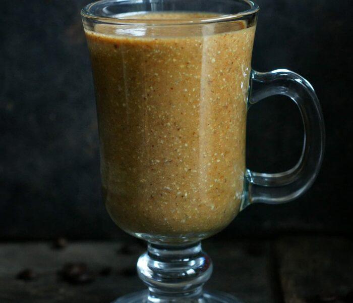 Owsiany koktajl o smaku kawy