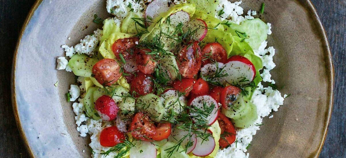 Twarożek z warzywami