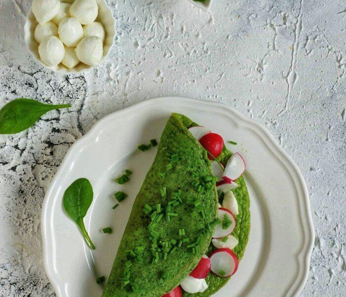 Szpinakowy omlet