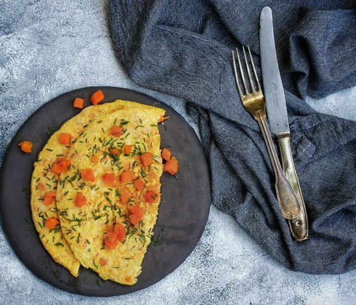 Marchewkowy omlet bez mąki