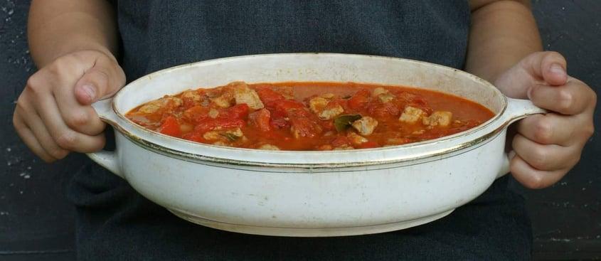 Pomidorowy gulasz z papryką